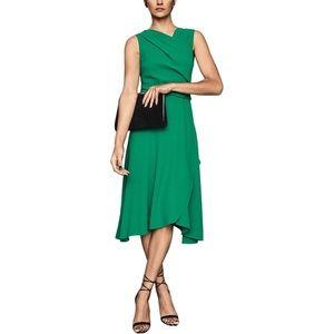 NWT Reiss Marling Green Midi Wrap Style Dress